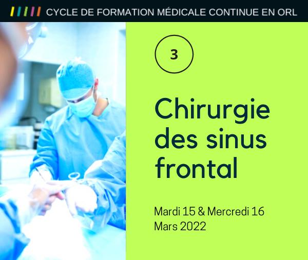 CHIRURGIE DES SINUS FRONTAL